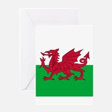Flag of Wales Greeting Cards