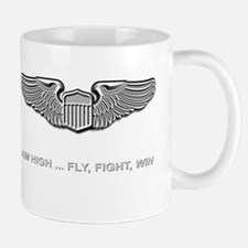 Air Force Pilot Wings Aim High Fly Figh Mug