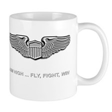 Air Force Pilot Wings Aim High Fly Figh Mug