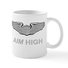 Us Air Force Pilot Wings Aim High Mug