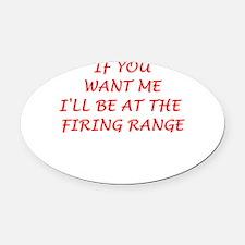 firing range Oval Car Magnet