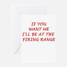 firing range Greeting Cards