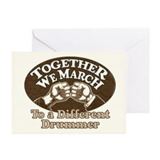 """""""Different Drummer"""" Greeting Cards (10 Pack)"""