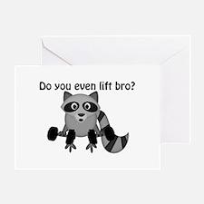 Do You Even Lift Bro Raccoon Greeting Card