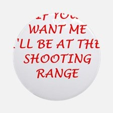 shooting range Ornament (Round)