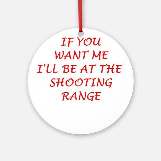 shooting range Ornament (Round)