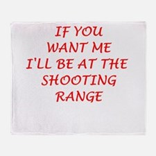 shooting range Throw Blanket