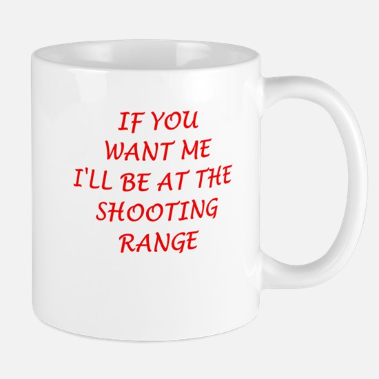 shooting range Mugs