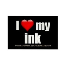 """Love My Ink"" Rectangle Magnet (100 pack)"
