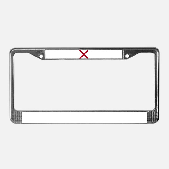 Alabama State flag License Plate Frame