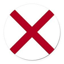 Alabama State flag Round Car Magnet