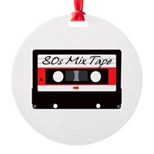 80s Music Mix Tape Cassette Ornament