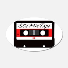 80s Music Mix Tape Cassette Wall Decal