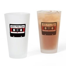 80s Music Mix Tape Cassette Drinking Glass