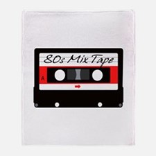 80s Music Mix Tape Cassette Throw Blanket