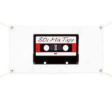 80s Music Mix Tape Cassette Banner