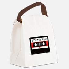 80s Music Mix Tape Cassette Canvas Lunch Bag
