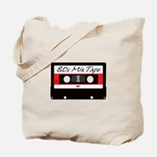 80s Music Mix Tape Cassette Tote Bag