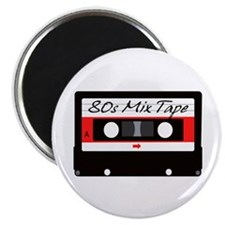 80s Music Mix Tape Cassette Magnet