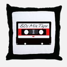 80s Music Mix Tape Cassette Throw Pillow