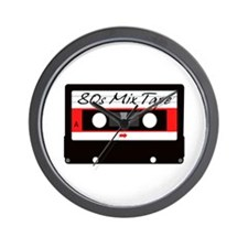 80s Music Mix Tape Cassette Wall Clock