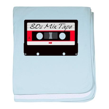 80s Music Mix Tape Cassette baby blanket