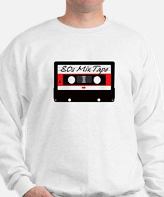 80s Music Mix Tape Cassette Sweatshirt