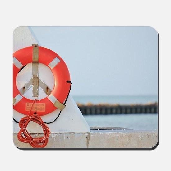 Nautical Peace Sign Mousepad