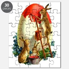 Easter rabbits painting Puzzle