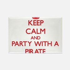 Keep Calm and Party With a Pirate Magnets