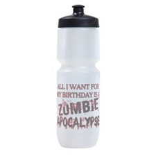 Birthday Zombie Apocalypse Sports Bottle