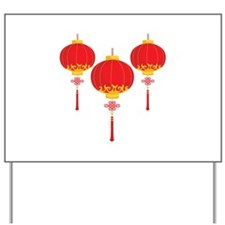 Chinese New Year Lanterns Yard Sign