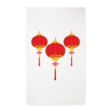 Chinese New Year Lanterns 3'x5' Area Rug