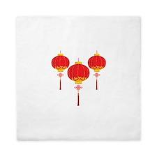 Chinese New Year Lanterns Queen Duvet