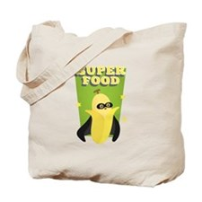 Cute Banana with Cape, Super Food Tote Bag