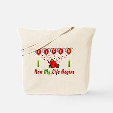 Life Begins At Fifty Tote Bag