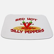 Red Hot Silly Peppers Bathmat