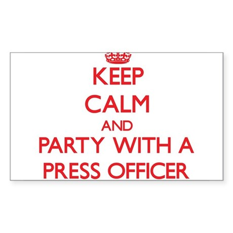 Keep Calm and Party With a Press Officer Sticker