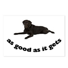 Black Lab Photo Postcards (Package of 8)