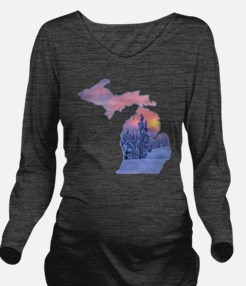 Michigan  Long Sleeve Maternity T-Shirt