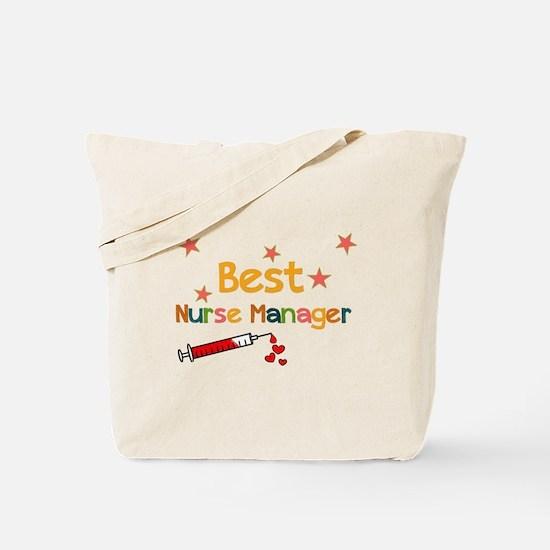 Best Nurse Manager Tote Bag