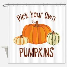 Pick Your Own Pumpkins Shower Curtain