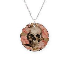 Vintage Rosa Skull Collage Necklace