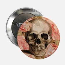 "Vintage Rosa Skull Collage 2.25"" Button"