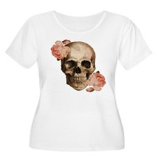 Vintage Rosa Skull Collage Plus Size T-Shirt