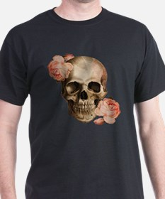 Vintage Rosa Skull Collage T-Shirt