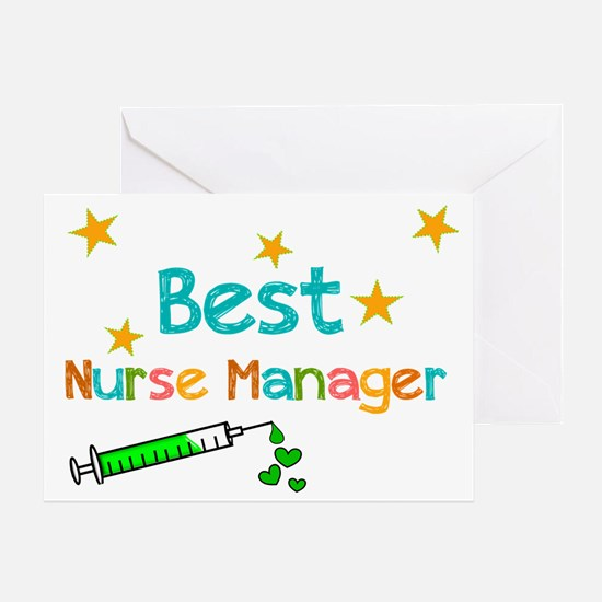 Best Nurse Manager 2 Greeting Cards