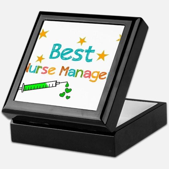 Best Nurse Manager 2 Keepsake Box