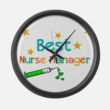 Best Nurse Manager 2 Large Wall Clock