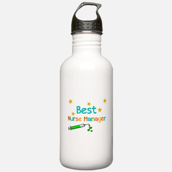 Best Nurse Manager 2 Water Bottle